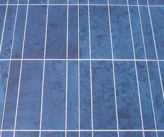acercamiento de una celda solar