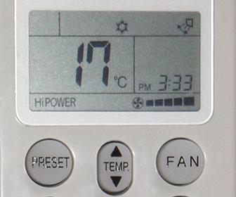 control remoto de aire acondicionado portatil