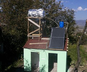 componentes básicos en un calentador solar